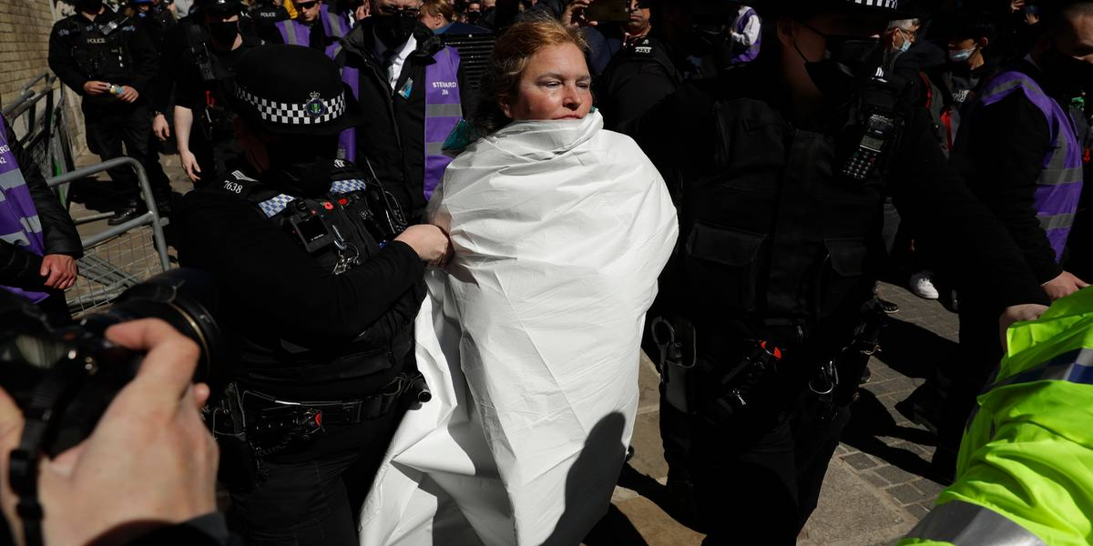 Woman charged after allegedly topless near Windsor Castle following Prince Philip's funeral