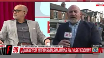 Man throws himself at camera during debate on new European Super League