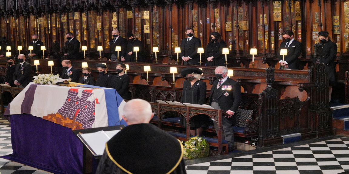 Prince Philip has been buried at St. George's Chapel in Windsor.
