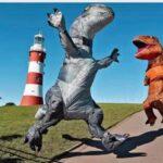 Woman Sets World RecordforPeople MeetinginDinosaur Costumes