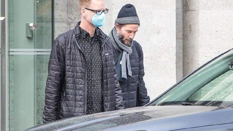 Keanu Reeves arrives on set to start filming John Wick 4