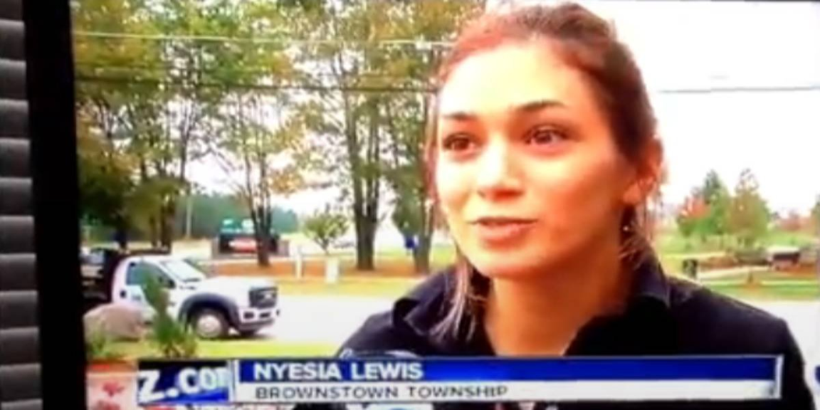 A woman was interviewed on the news after smoking a joint at 7:00 a.m.