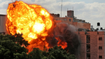 Israel launches 600 strikes against Palestinian terrorists and prepares for a ground war