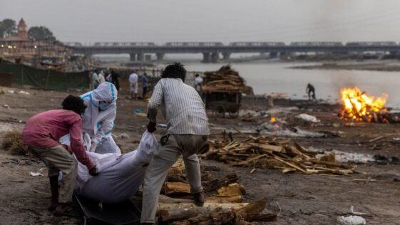 Corpses wash up on banks of holy river in Indian coronavirus outbreak