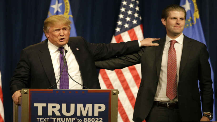 """Eric Trump says people miss his father and hug him """"with tears in their eyes"""""""