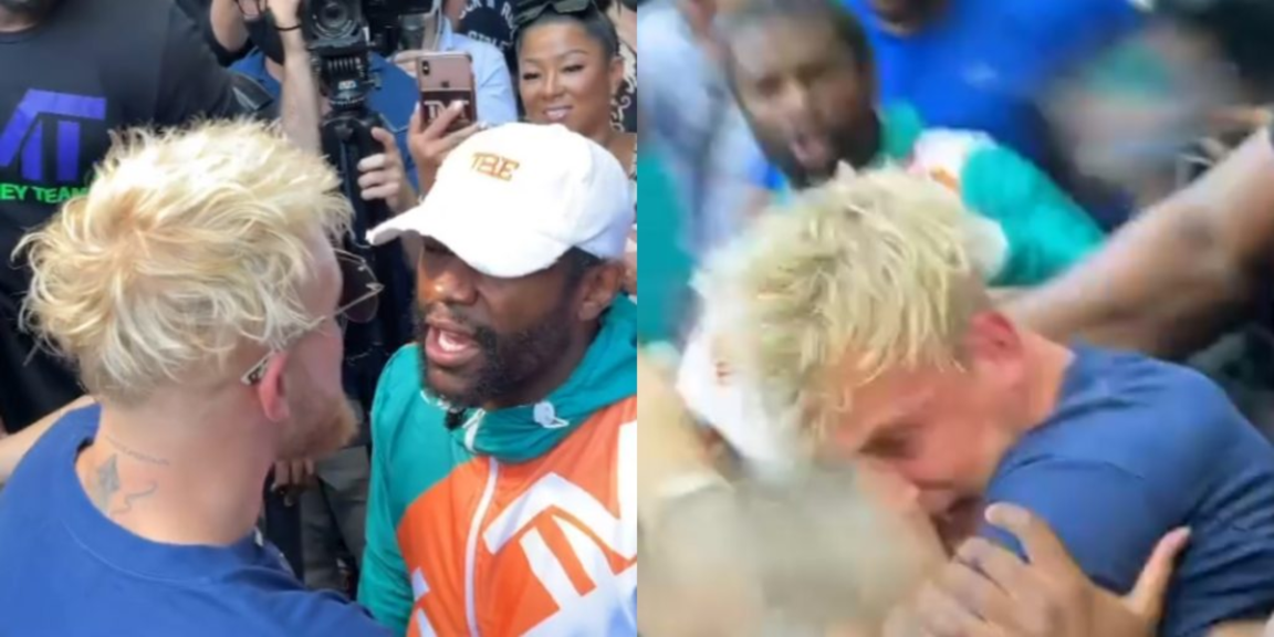 """Jake Paul is left with a """"black eye"""" and a """"broken tooth"""" after confrontation with Floyd Mayweather"""