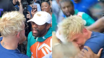 "Jake Paul is left with a ""black eye"" and a ""broken tooth"" after confrontation with Floyd Mayweather"