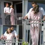 Jennifer Lopez and Ben Affleck hang out on the balcony in a Miami home