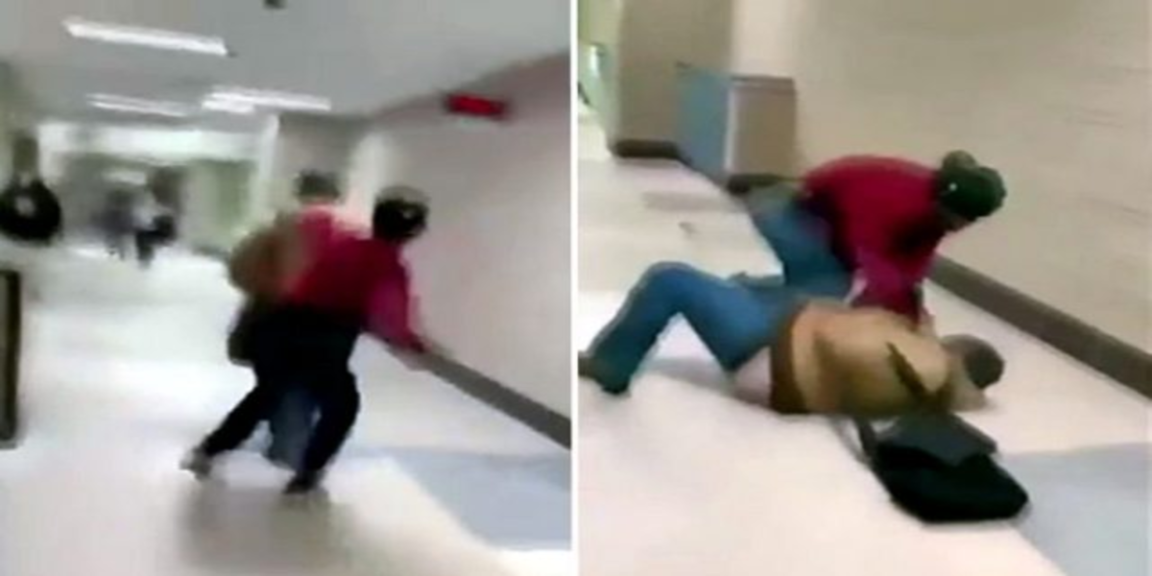 Black student brutally beats white student in alleged racial attack