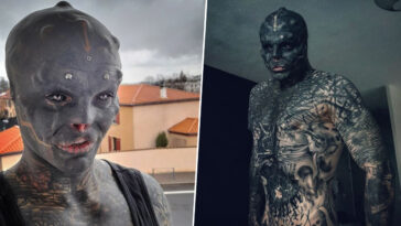 The story of the man who transformed his body to look like an alien