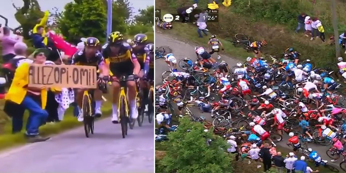 Fan who caused horrific crash at Tour de France faces up to a year in jail