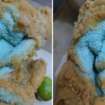 A customer ordered fried chicken at a restaurant and was given a towel