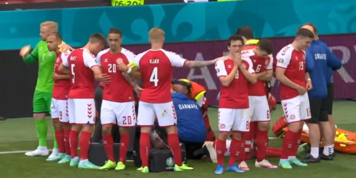 Christian Eriksen collapses in the middle of the Denmark-Finland game