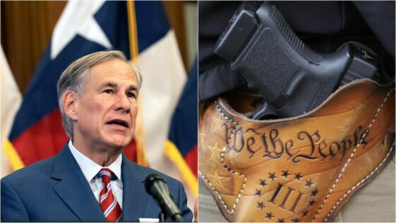 Texas Governor Greg Abbott signs permitless gun carry bill into law