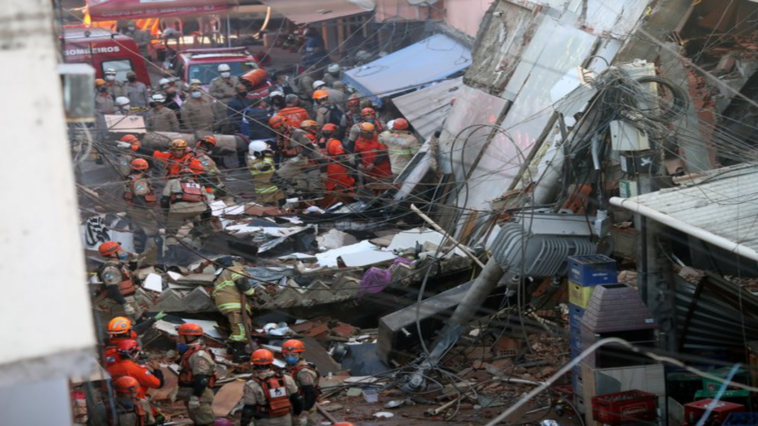 Two-year-old girl dies after building collapse in Brazil