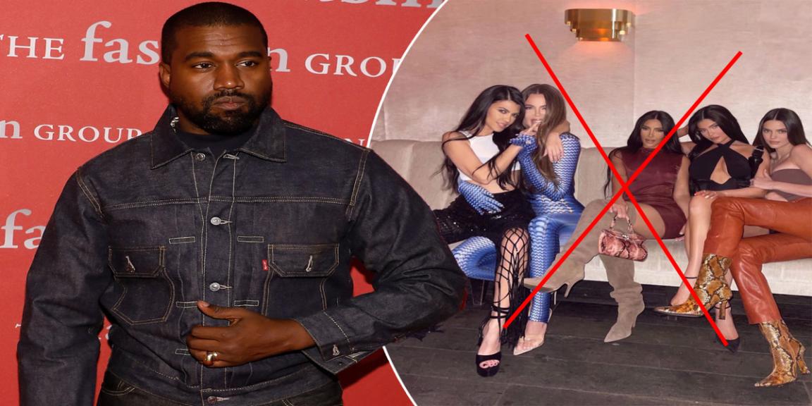 Kanye West stops following the Kardashians on Twitter