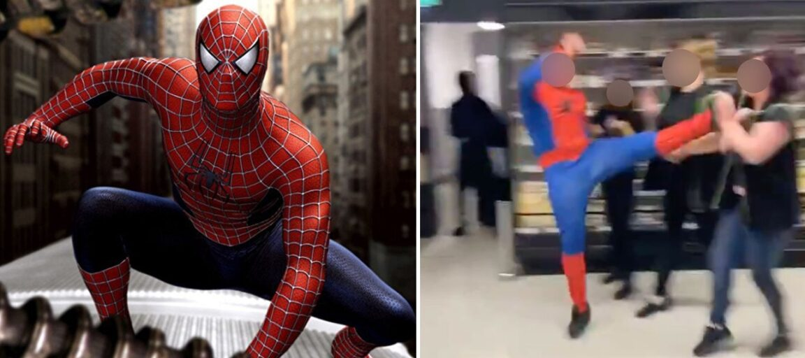 Several injured after man dressed as Spider-Man attacks Asda workers in mass brawl