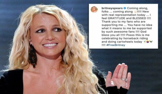 Britney Spears uses #FreeBritney hashtag on Instagram post-hearing