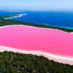 The mysterious pink water of Lake Hillier in Australia