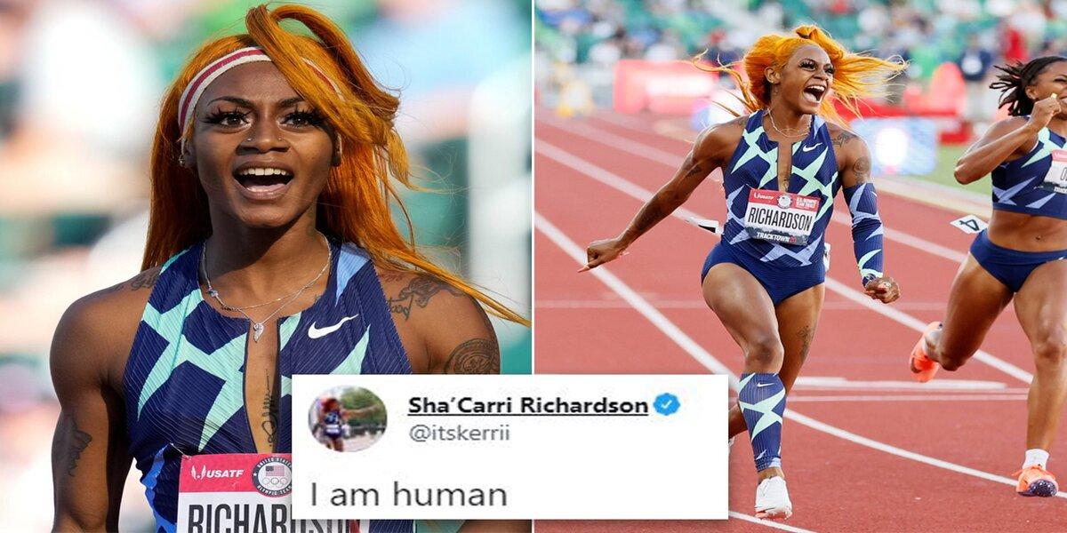 Sprinter Sha'Carri Richardson tests positive for marijuana and will miss the Olympics