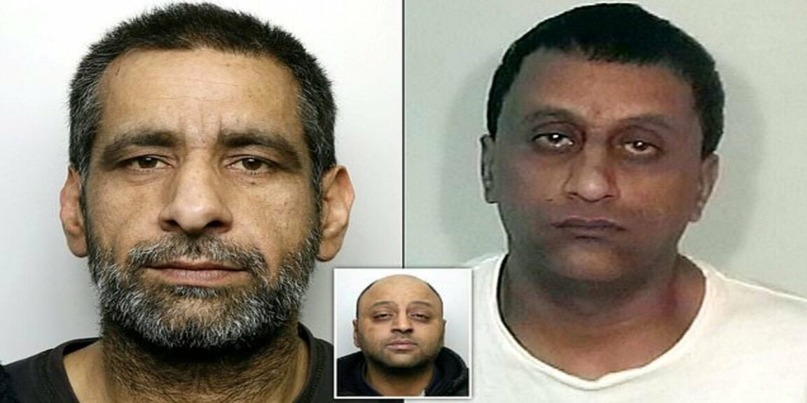 Sex offenders who assaulted a girl and raped her in a playground and in her own bedroom have been jailed