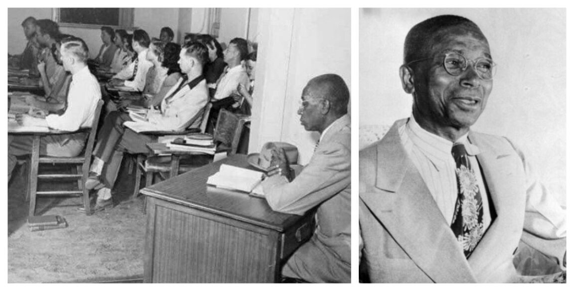 George McLaurin, the first black man admitted to the University of Oklahoma in 1948