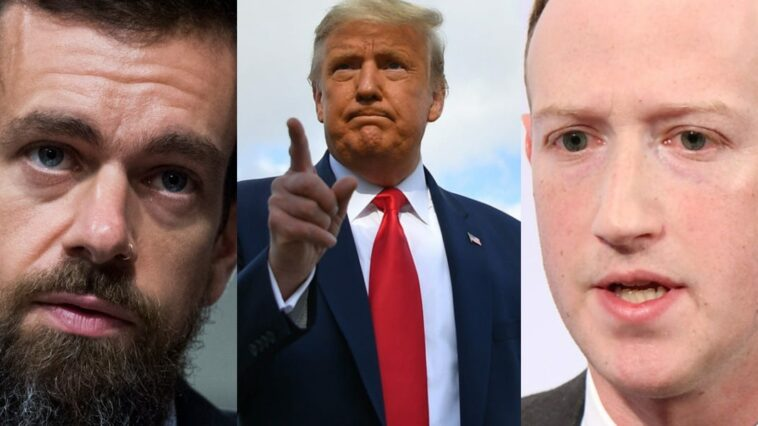 Trump to sue Mark Zuckerberg and Jack Dorsey