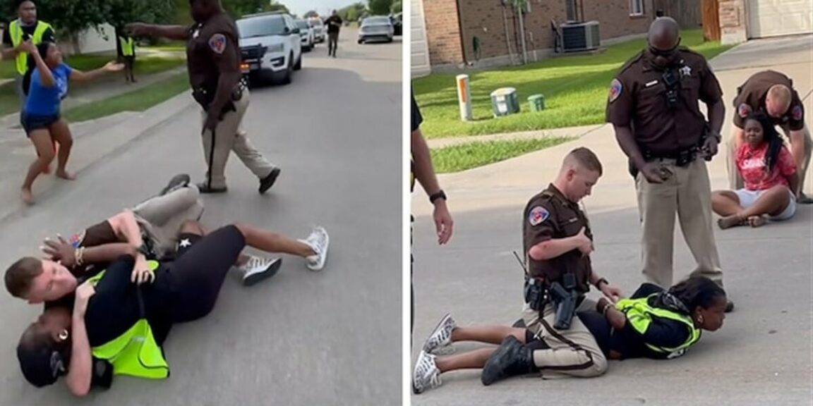 Texas cop stands over black teen as she screams 'I can't breathe'