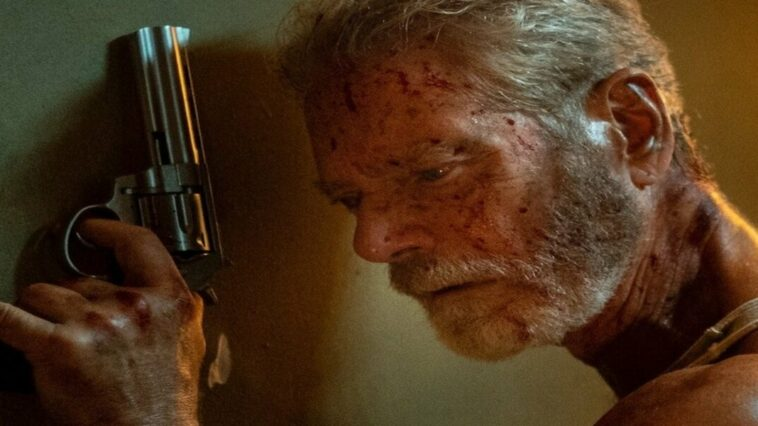 Don't Breathe 2; the fearsome blind man prepares to annihilate a new group of invaders