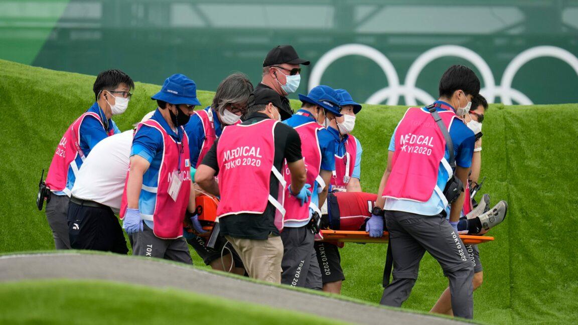 U.S. BMX rider Connor Fields suffered a brain hemorrhage in Olympic crash
