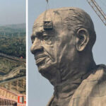 The world's tallest statue, nearly three times the height of the Statue of Liberty