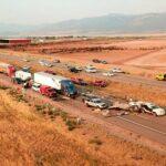 At least 7 killed in 20-vehicle crash in Utah during a sandstorm