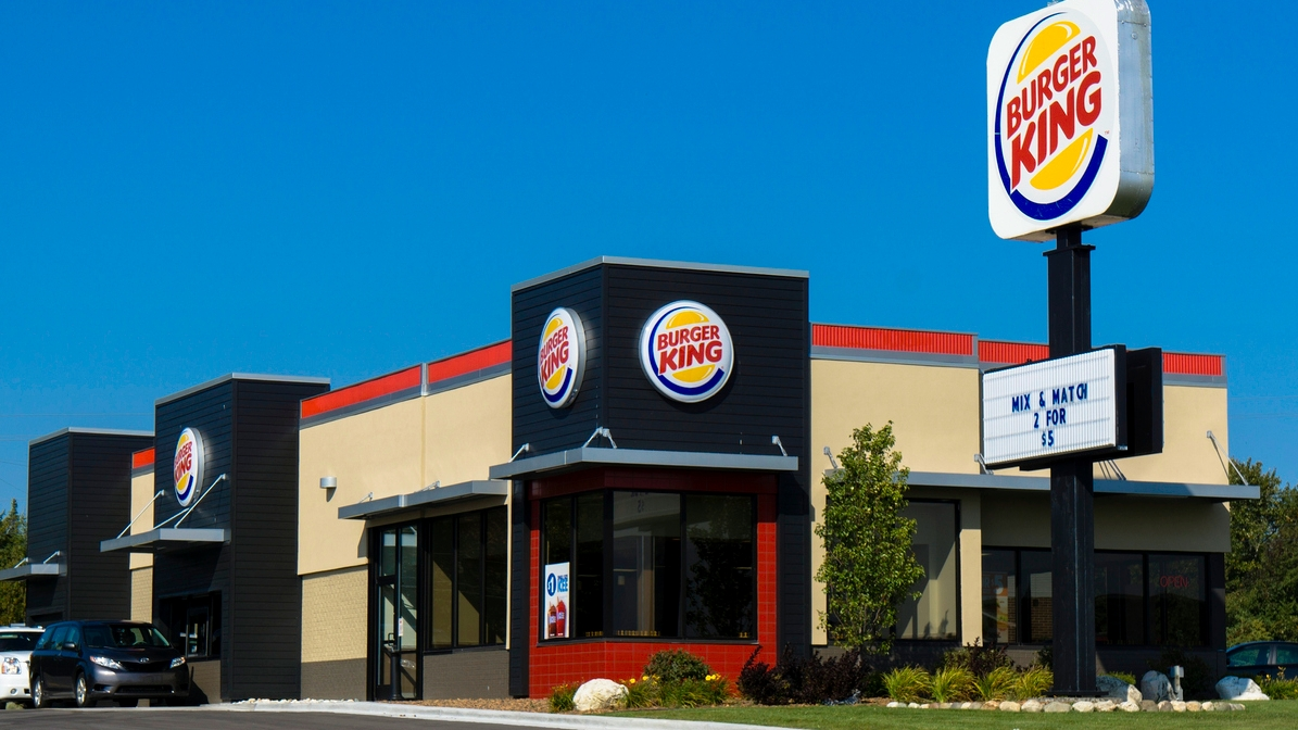 Burger King workers write 'we all quit' on a sign