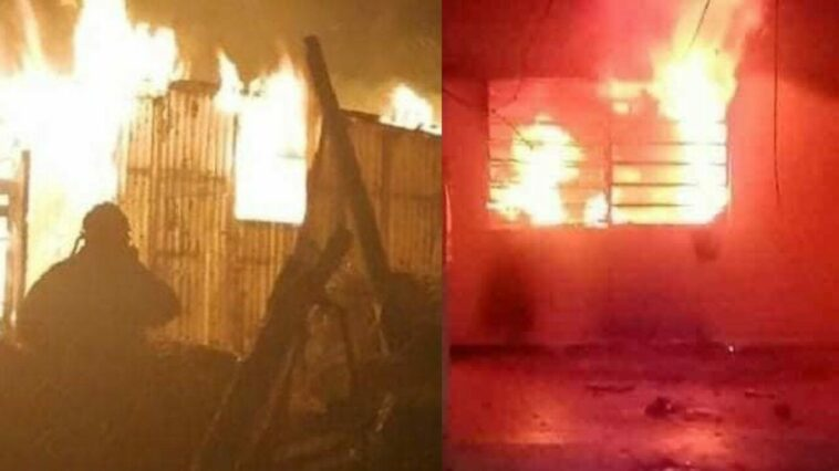 Woman, fed up with the mess, set fire to her house with her husband inside