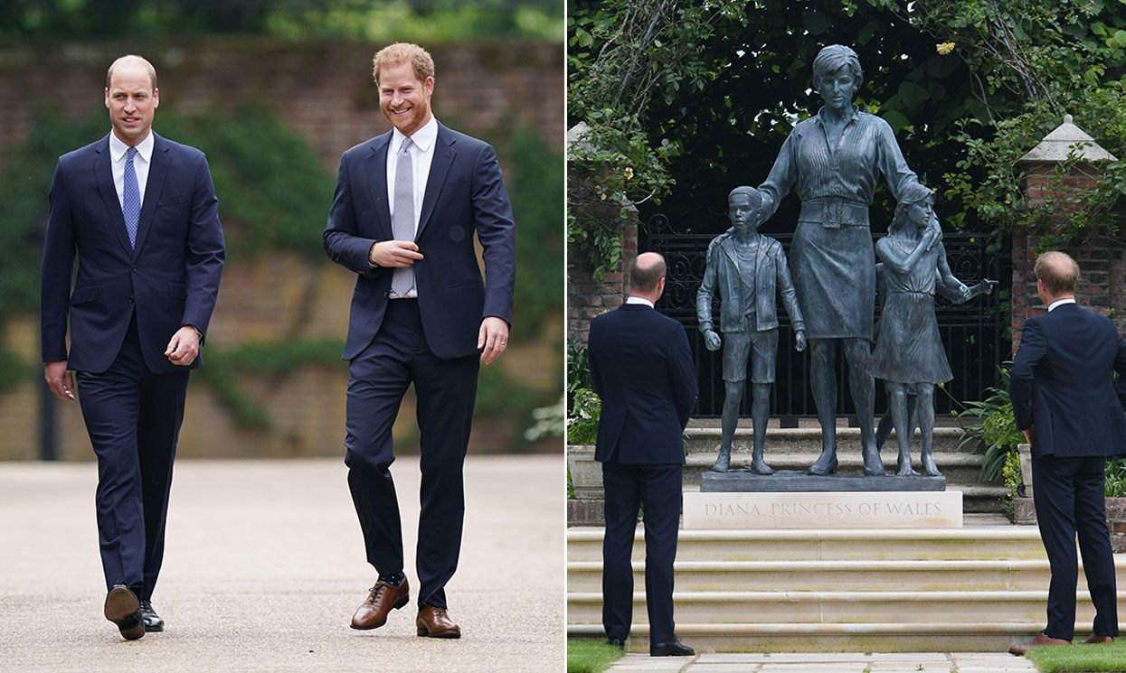Prince William and Prince Harry unveiled a statue of their late mother, Diana