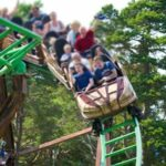 A roller coaster went off its track at a theme park in Scotland, injuring two children