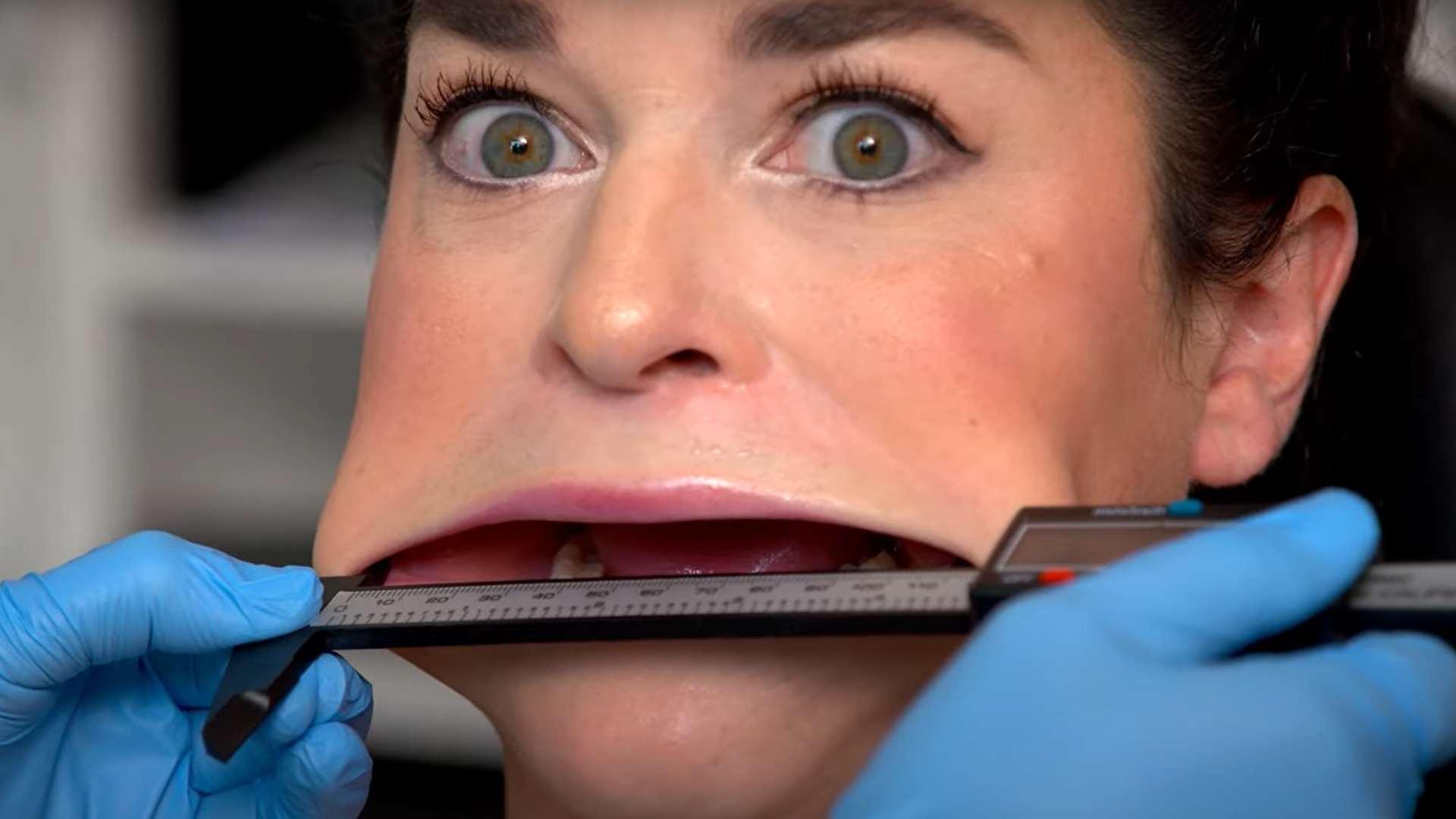 Samantha Ramsdell, the Guinness World Record holder for largest mouth in the world