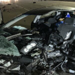 A newlywed bride, still in her wedding dress, is killed in a crash