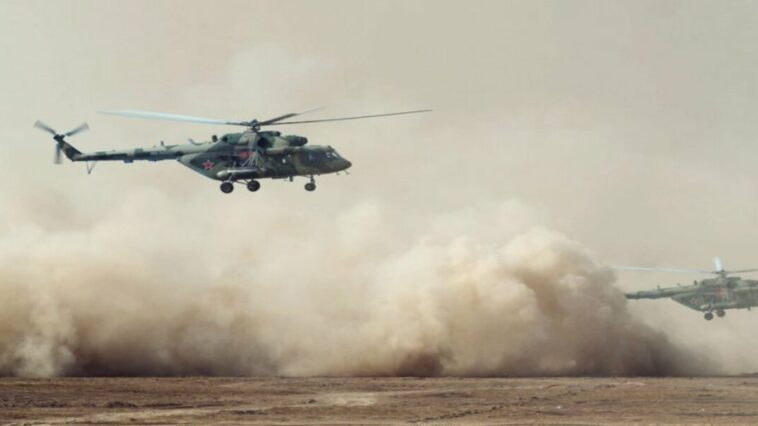 Russian helicopter crashes with 16 people on board