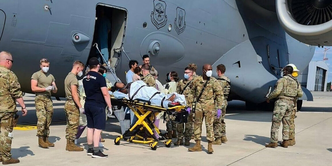 Afghan woman gives birth on U.S. evacuation flight