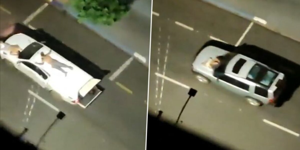 Bank robbers tie up hostages as human shields in their getaway cars in Brazil