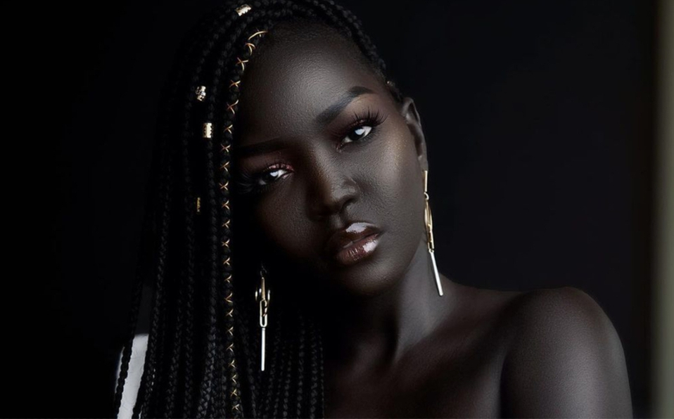 Nyakim Gatwech, the model who is known as the 'queen of dark'