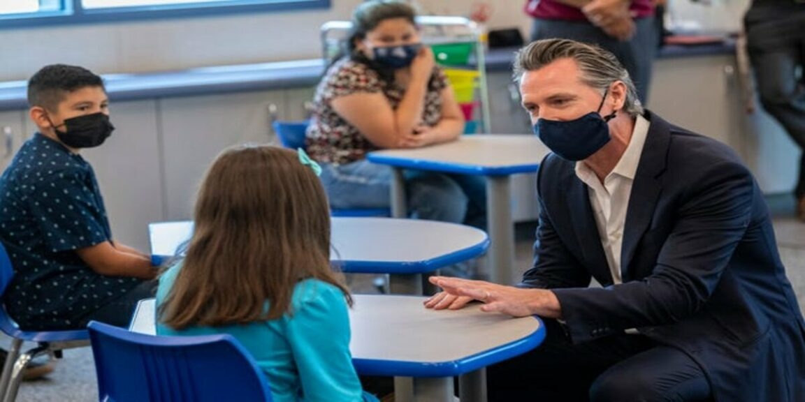California mandates vaccination or testing for teachers and school employees, Newsom says