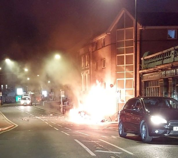 Trapped man shouted to his friends to get him out of the car before it exploded and killed three people