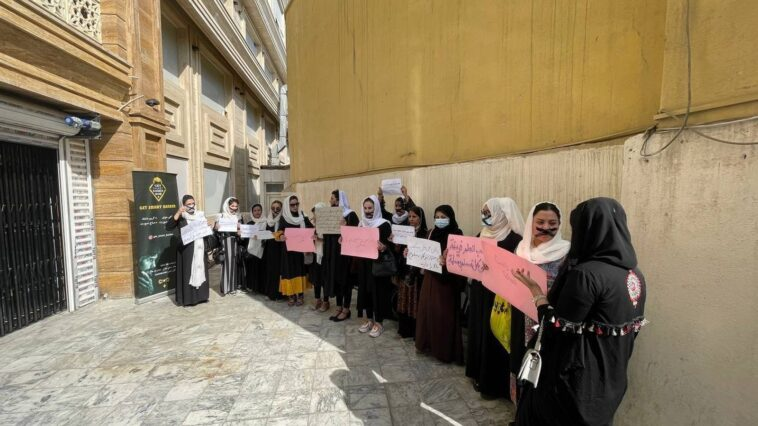 """Afghan women """"outrage"""" by new work restrictions"""