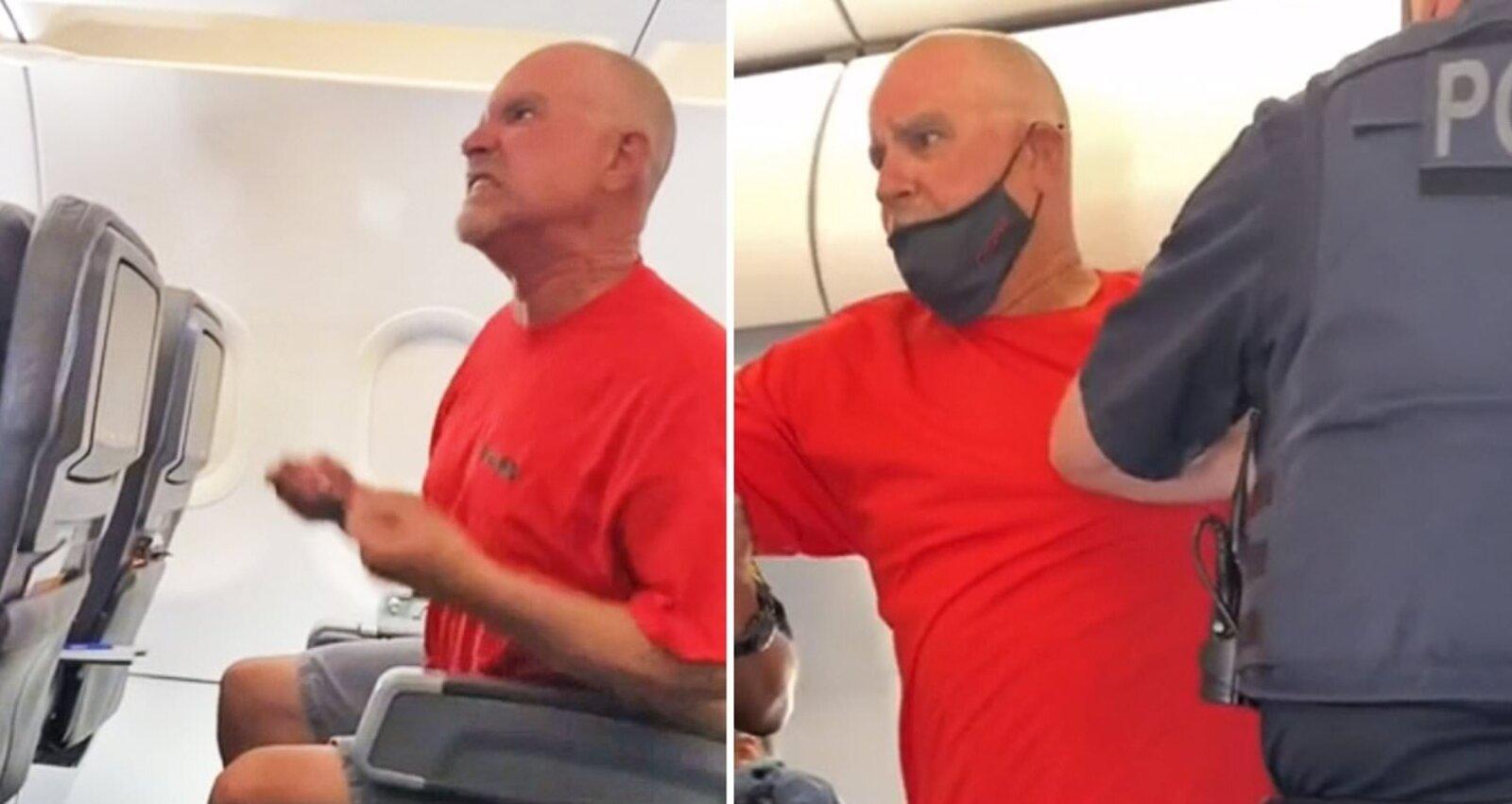 "The passenger grunts and yells ""Joe Biden"" at the American Airlines crew"