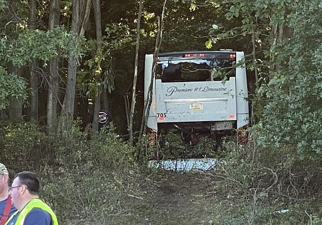 Bus carrying dozens of young people ran off the road and injured more than 30 people