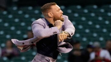 Conor McGregor throws the worst pitch in baseball history