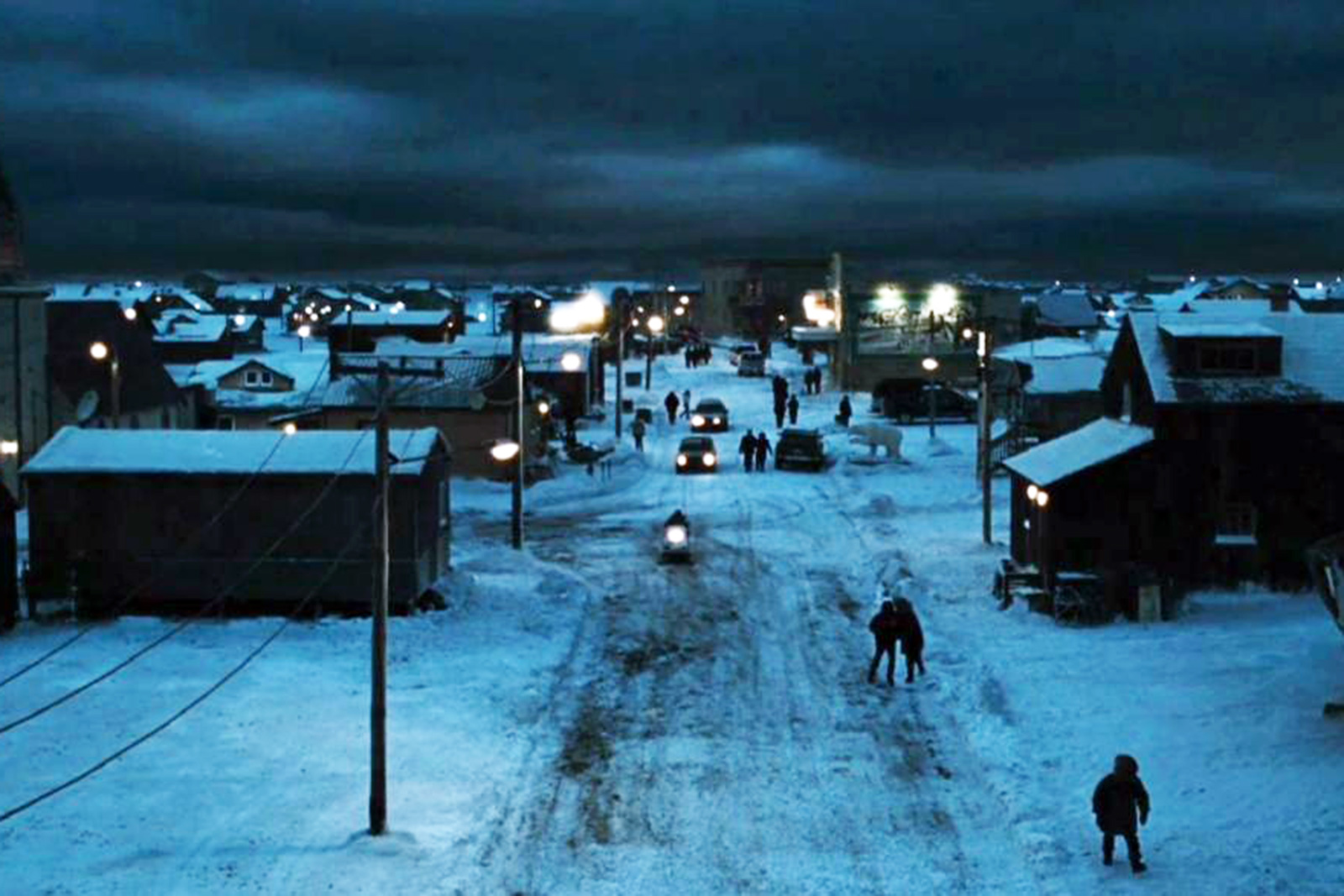 The town of Barrow, the Alaskan village that lived without sunshine for 65 days: two months