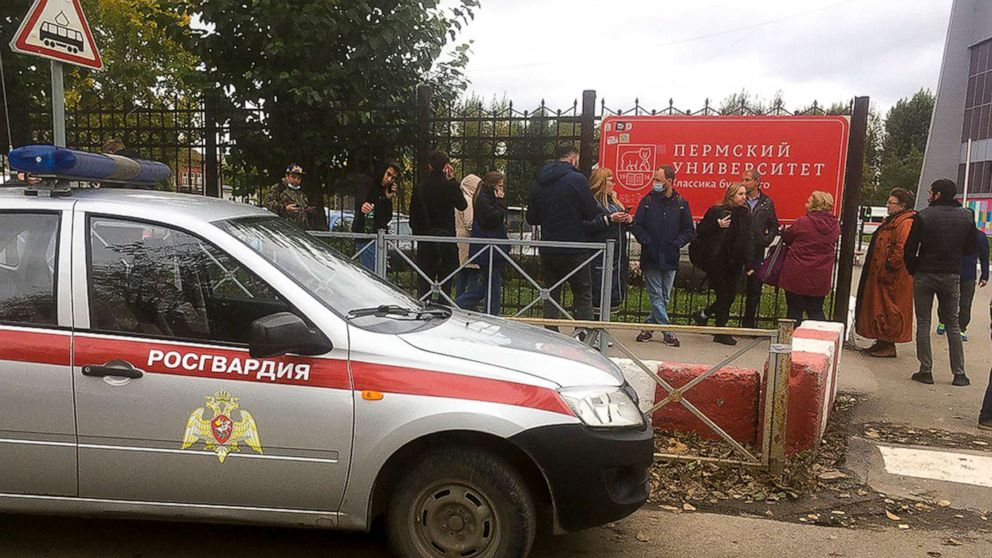 At least 8 dead in shooting at Russian university